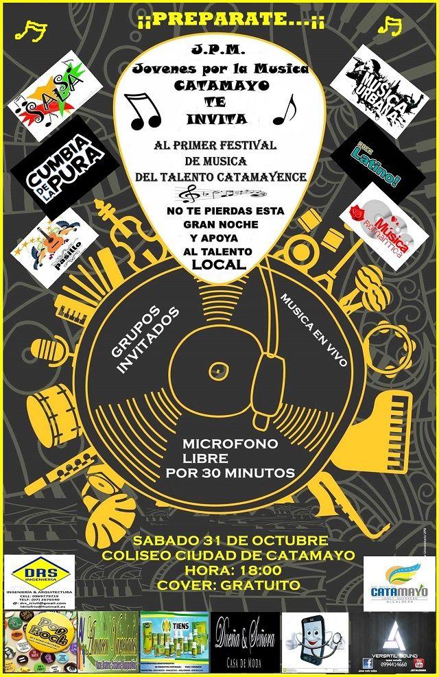 """Catamayo vivirá el I Festival de Música """"Talento Catamayense"""""""