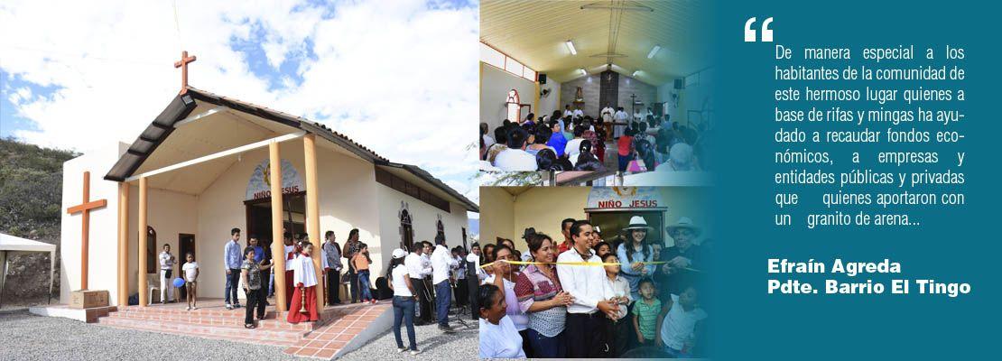 Bendición e inauguración de la Capilla de El Tingo