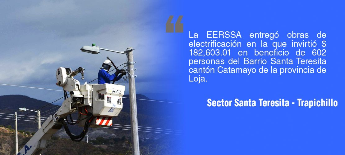 Potenciación eléctrica para el sector Santa Teresita - Trapichillo
