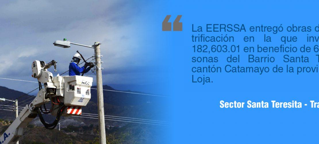 Potenciación eléctrica para el sector Santa Teresita – Trapichillo