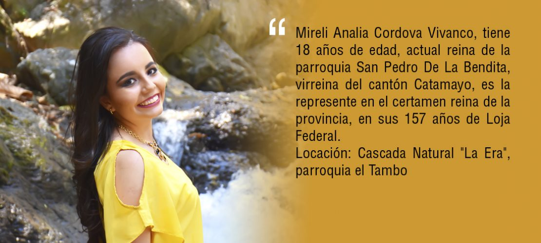 Mireli Córdova representará a Catamayo en el certamen reina de la provincia