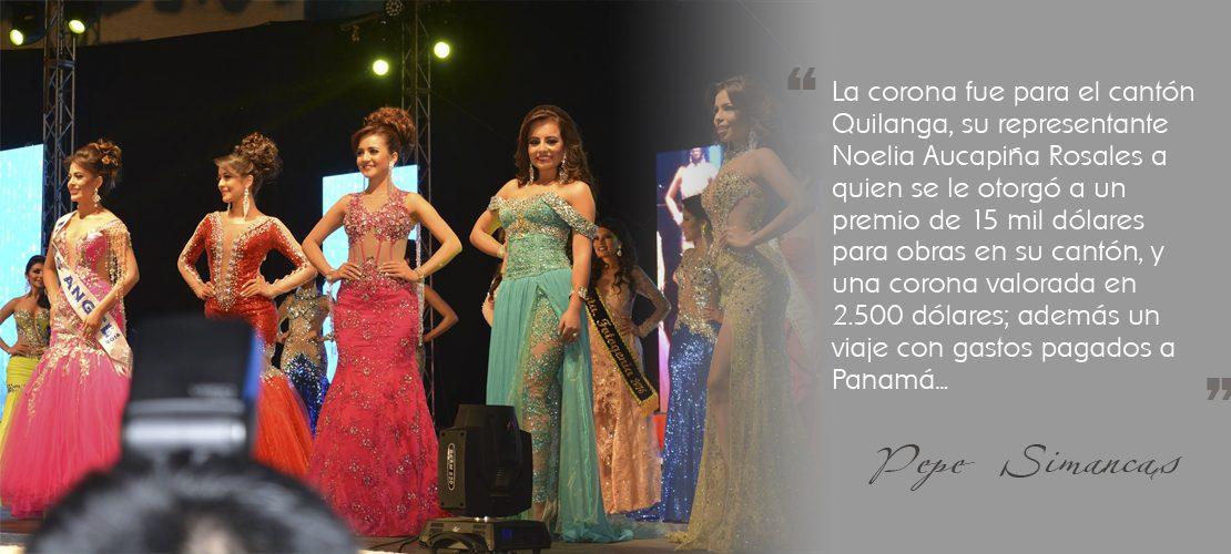 Mireli Córdova, representante del cantón Catamayo fue proclamada Srta. Acción Social