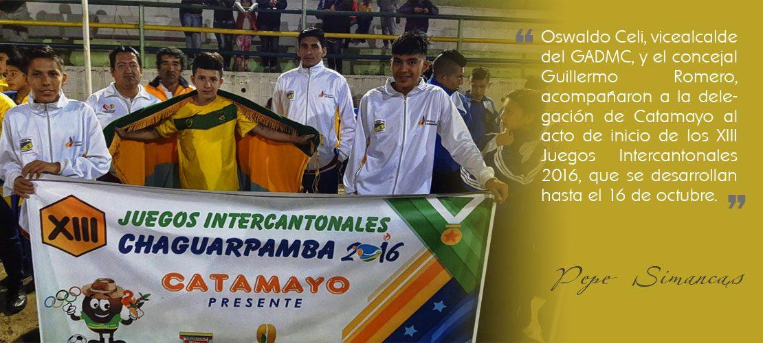 En Chaguarpamba, se vive los XIII Juegos Intercantonales 2016