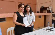 Alcaldesa de Catamayo firma convenio con Banco de Desarrollo para financiamiento