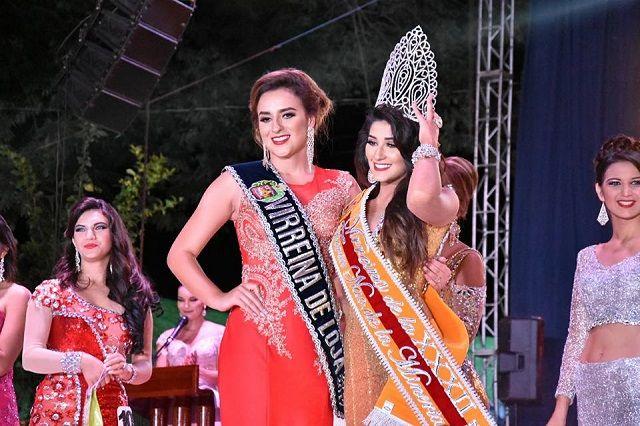 Nicole Madelayne Pinilla Marín de Machala, es la Reina de XXXII Feria Nacional de la Minería y María Eduarda Guzmán Ortega de Zaruma, la Virreina
