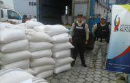 Decomisan 240 sacos de maíz en Catamayo, Loja