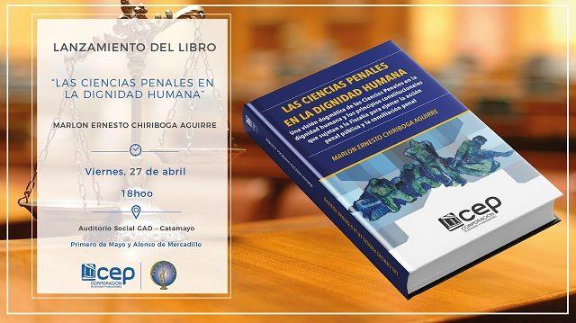 """El libro """"Las ciencias penales en la dignidad humana"""", ya tiene fecha de publicación."""