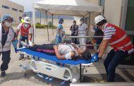 Realizaron simulacro de explosión de gas doméstico en Centro de Salud tipo