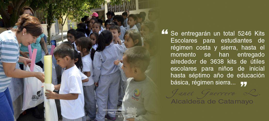 GADM de Catamayo entregó Kits Escolares a niños de inicial a séptimo años de educación básica, régimen sierra