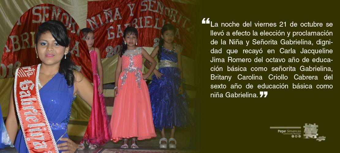 Elección y proclamación de la Niña y Señorita Gabrielina