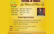 Festival de Música nacional la Piña de Oro capitulo Zambi