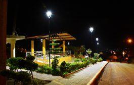 Se iluminó oficialmente el parque del sector La Alborada