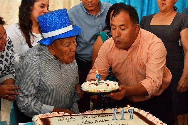 Nachito cumple 117 años de edad