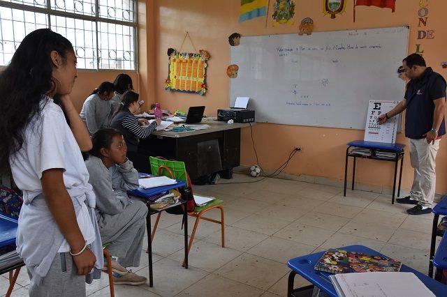 Equipos de Salud realizaron tamizaje visual a escolares