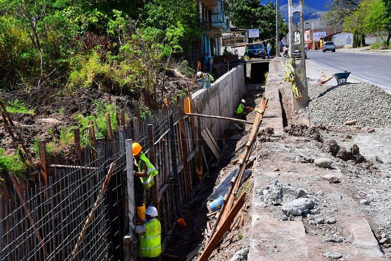 Se construye el sistema de embaulado en sector Ceibo Norte
