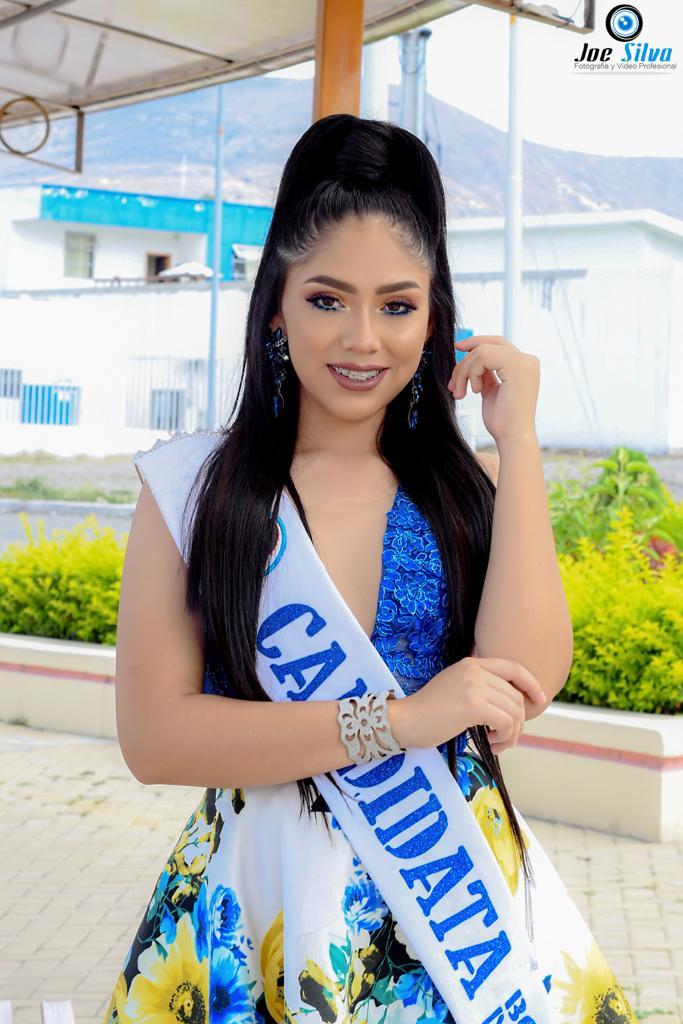 """Samantha Ayelén Alvarado CuencaEdad: 16 añosRepresenta al Segundo año de bachillerato paralelo """"A"""""""