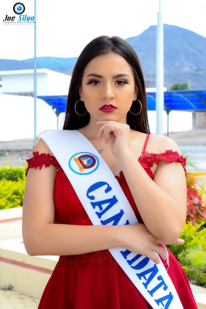"""Leyre Diana Carpio Guerrero Edad: 17 años Representa al Tercero de bachillerato paralelo """"A"""""""