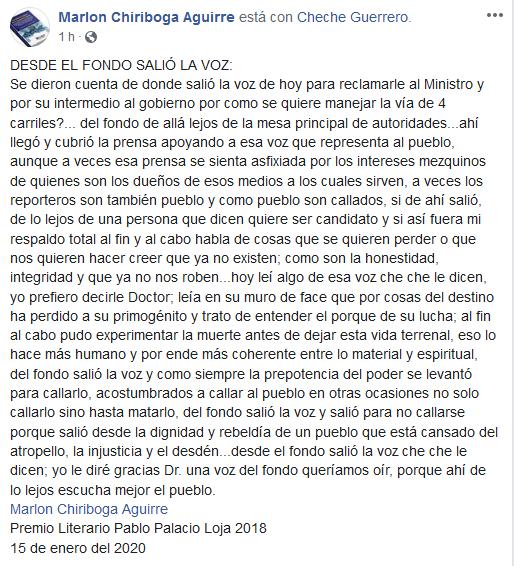 Opiniones Vía 4 Carriles Catamayo - Loja