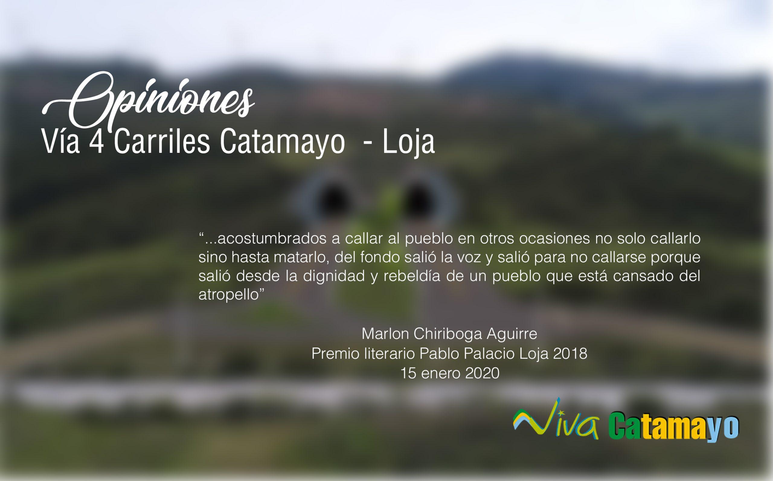 Via 4 carriles Catamayo - Loja - opiniones - portada
